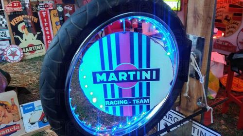 cartel led rueda harley davidson martini racing llanta retr