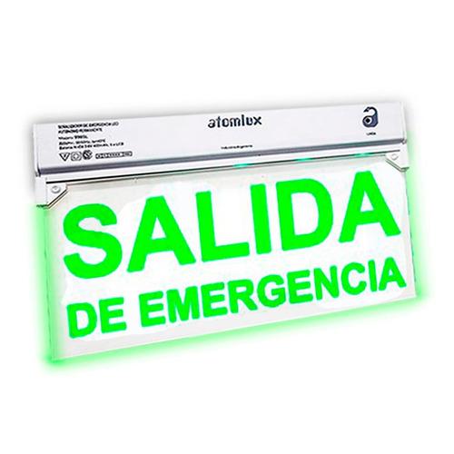 cartel led salida de emergencia atomlux señalizador lumi pc