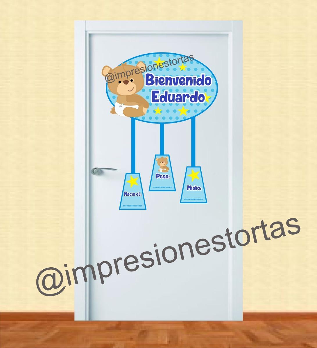 Cartel letrero bienvenido para puerta de clinica bs 4 for Cartel puerta