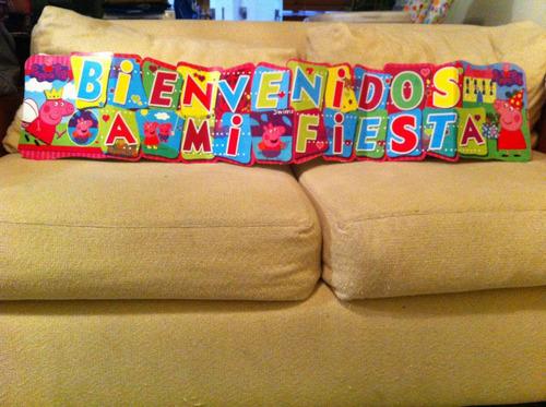 cartel letrero de bienvenidos a mi fiesta lalaloopsy