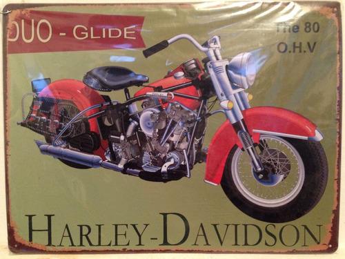 cartel letrero harley davidson moto decoración