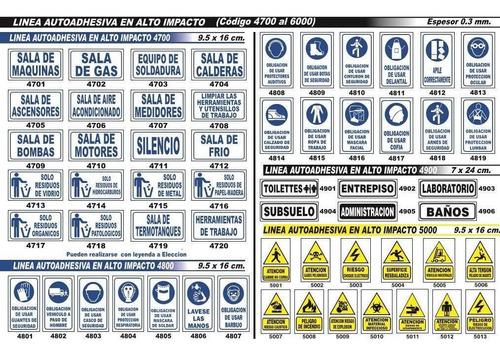 cartel linea advertencia 40x45 cm varios modelos oferta!!!