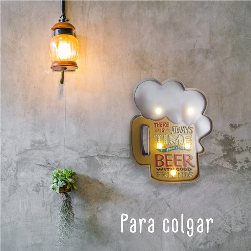 cartel luminoso decorativo cerveza beer chopp bar luz led pc