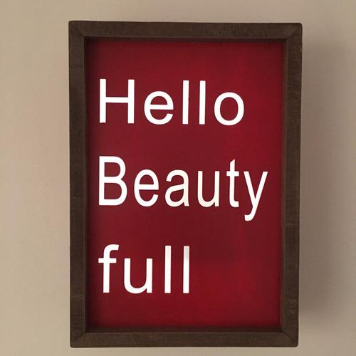 cartel luminoso hello beautyfull diseño decoración cu9