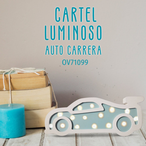 cartel luminoso led auto chicos carrera pc
