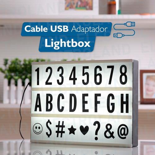 cartel luminoso led letras numeros lightbox tablero 30x25