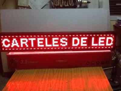 cartel luminoso led programable 130cm! factura a!