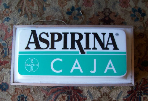 cartel luminoso publicidad aspirina - barbacoa