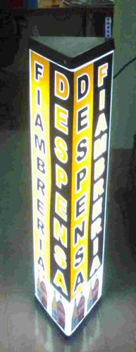 cartel luminoso triangular