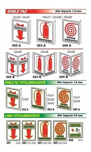 cartel matafuego chapa baliza triangulo 37x37 cm oferta!!