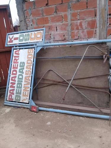 cartel metalico  exterior
