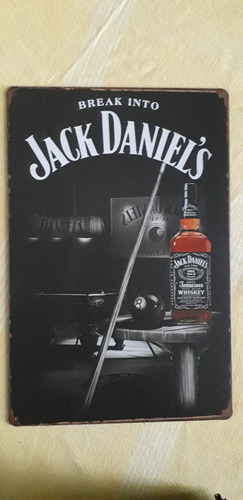 cartel metálico jack daniel's 30x20