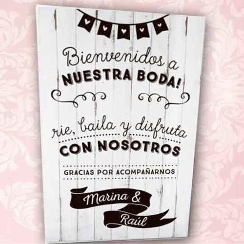 cartel mural bodas
