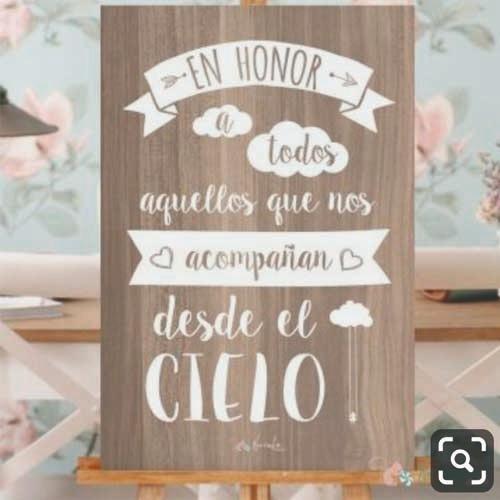 cartel mural bodas mas atril