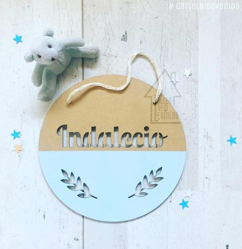 cartel nacimiento - bienvenida - cuarto