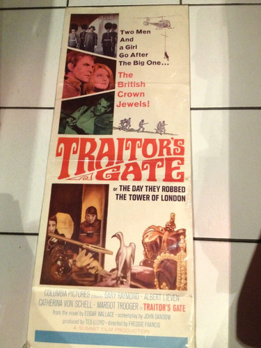 cartel o afiche de cine antiguo traitor s gate1964