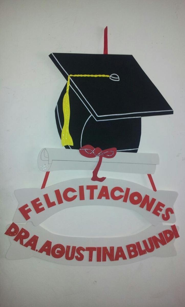 Cartel Para Egresados O Graduación - Goma Eva - 48 X 47cm - $ 380,00 ...