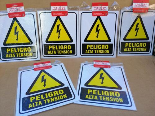 cartel peligro alta tensión 25x30 seguridad víal pvc plastic