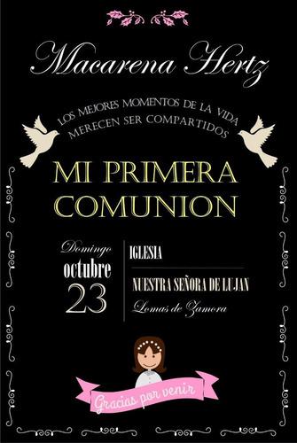 cartel pizarra comunion,  bautismo, cumpleaños.personalizado