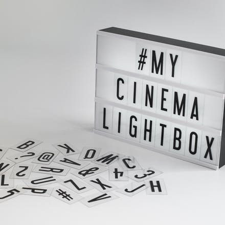cartel pizarra luminosa led light box 42x30 cine usb pila