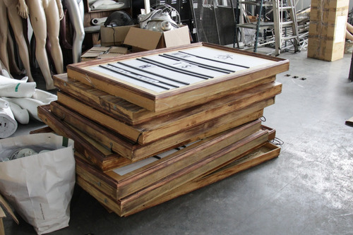 cartel pizarra pizarrón comercial letras madera 140x90cms