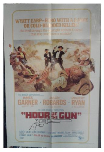 cartel póster cine original hour of the gun james garner