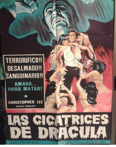 cartel póster cine original las cicatrices de dracula