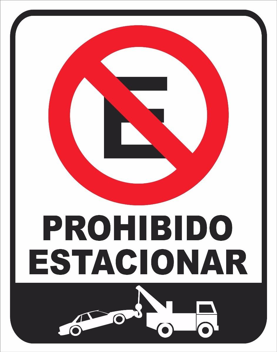 Cartel Prohibido Estacionar - Industrias y Oficinas en Mercado Libre ...