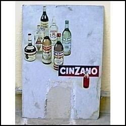 cartel publicitario de cinzano.
