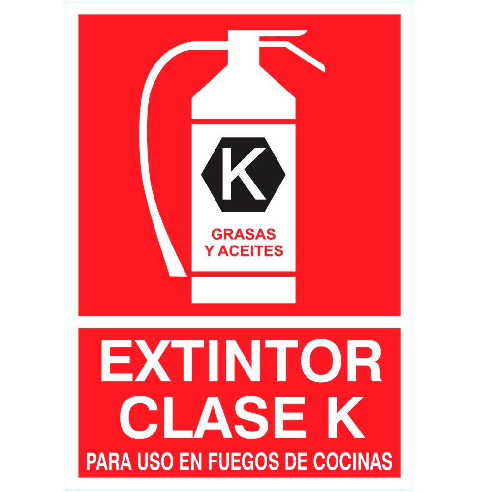 Cartel reglamentario extintor clase k para cocinas u s 7 00 en mercado libre - Carteles de cocina ...