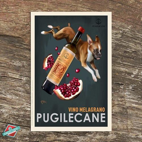 cartel retro vintage - vinos pugilicane