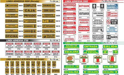 cartel salida 14x41 cm alto impacto oferta!!!
