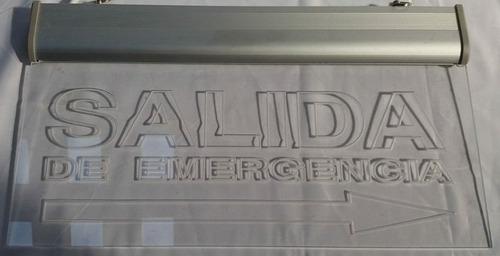 cartel salida de emergencia, salida, escalera  y puerta led!