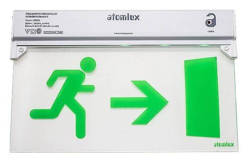 cartel señalizador hombre flecha puerta atomlux 9905l