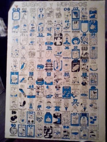 cartel sueños y numeros quinielas