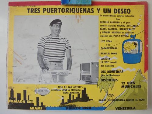cartel tres puertoriqueñas y un deseo braulio castillo 1961