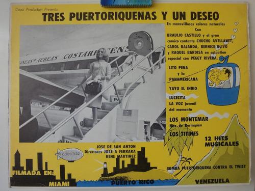 cartel tres puertoriquenas y un deseo carol bajanda 1961