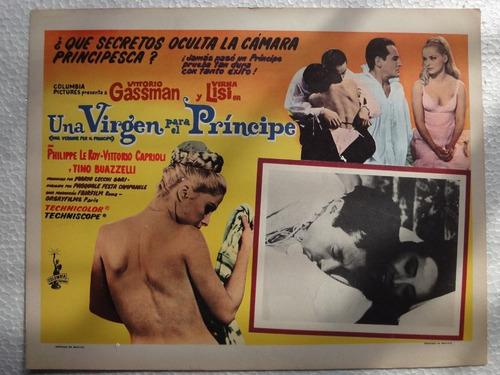 cartel una vergine per il principe vittorio gassman vir lisi