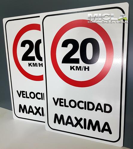 cartel velocidad máxima 20  chapa n°16