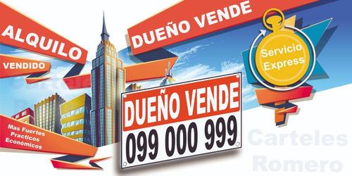 cartel vende alquila  80x60cm