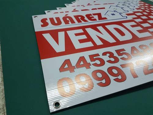 cartel vende alquila inmobiliarias cartonplast ,carton plast