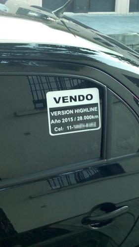 cartel vendo auto