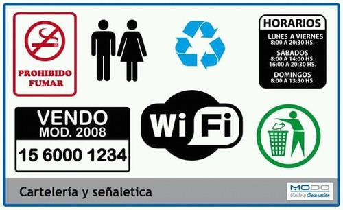 cartel vendo auto cartelería señaletica vinilo de corte