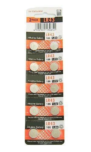 cartela 10 baterias maxell lr41, lr43, lr44, lr1120, lr1130