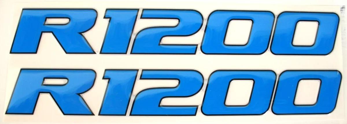 Cartela 2 Adesivos Bmw R 1200 Gs Azul Resina Italiana - R  47 8796d47c639ca