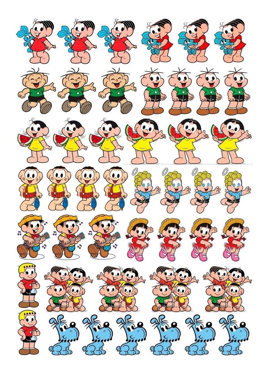 Cartela 46 Tatuagens Removíveis Turma Da Mônica Festa