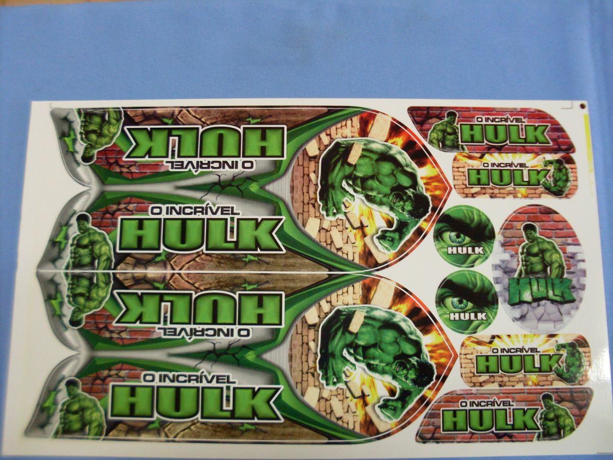 Aparador Area ~ Cartela Adesivo Bicicleta Infantil O Incrivel Hulk R$ 9,99 em Mercado Livre