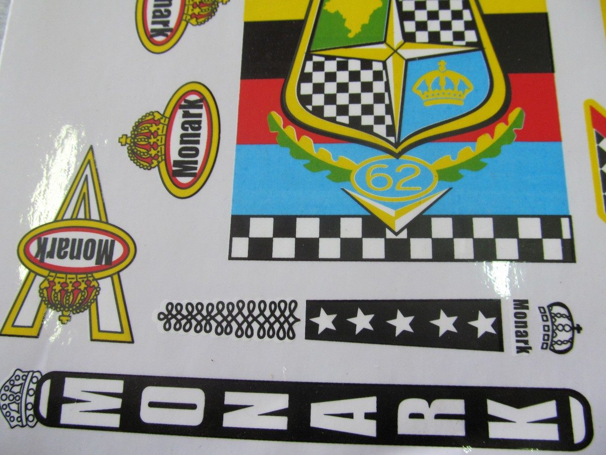 Adesivo De Parede Onde Comprar ~ Cartela Adesivo Bicicleta Monark Gran Premio 62 frete Gratis R$ 18,00 em Mercado Livre