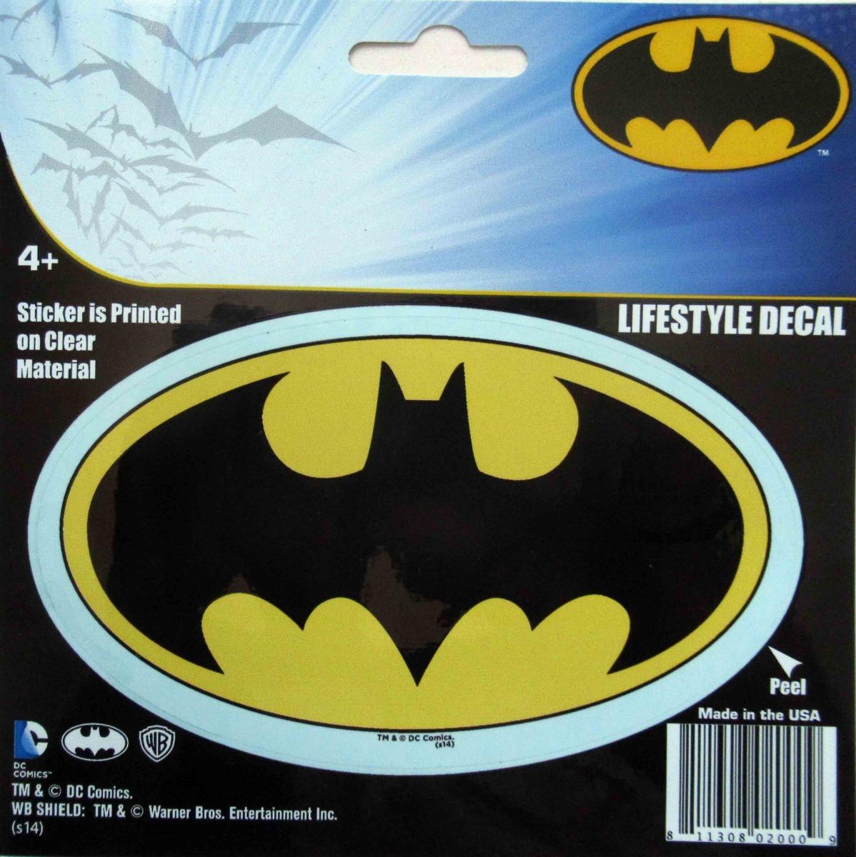 Cartela Adesivo Logo Batman 1989 Michael Keaton Tim Burton