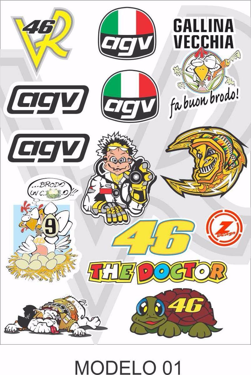 cartela adesivo moto gp motocross capacete compre 2 e leve 3. Carregando  zoom. 53a279f187113